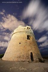 Torre (Xavier Mas Ferr) Tags: nightphotography nightscapes night ibizanight ibiza eivissa clouds longexposure tower