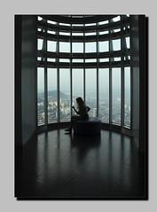 Silhouette (Fazar Photography) Tags: girl reading window light silhouette klcc tower petronas twintower kl malaysia