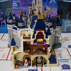 LEGO Disney Castle Set - Disneyland Purchase - Assembly - Stage 12 Completed - Back View of Upper Story (drj1828) Tags: us disneyland 2016 lego disney castle purchase 71040 assembly