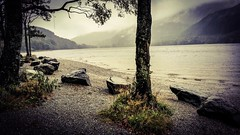 .know that I  y.ou (i  e R t i a  N e v e r f a r) Tags: landscapeshotswithmobilephones landscape lochlomond scotland travel terrains lake vintage rocks mountains nature mist