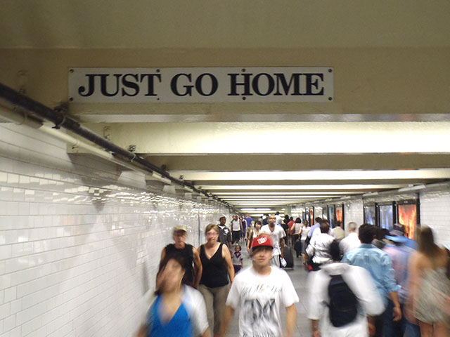 Just go home