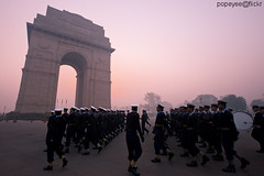 Indian Republic Day 2011 (Popeyee) Tags: pictures india sunrise photo gate gallery day republic photographer image photos jan 26 delhi indian january band picture images parade marching indians bharat 26th republicday indiagate 2011 merabharatmahan indianrepublicday2011