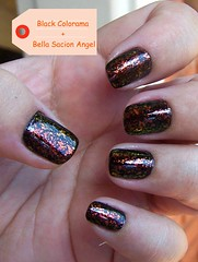 Esmalte do Dia !!! (O GATO MIMOSO) Tags: black angel bella mão unha vernis esmalte colorama sancion flocado flakies