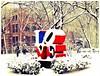 LOVE Snow #1 (luidude) Tags: autumn snow fall philadelphia leaves campus pennsylvania centercity fallcolors snowstorm pa penn philly upenn universityofpennsylvania phila lovesculpture camarabag canonpowershotsd950is