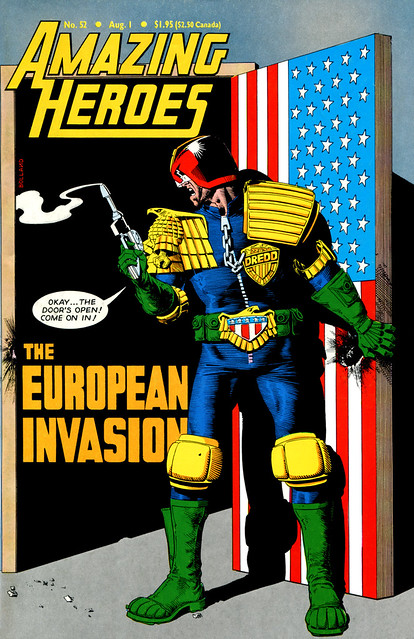 Amazing Heroes 52 1984 Judge Dredd British Invasion cover by Brian Bolland