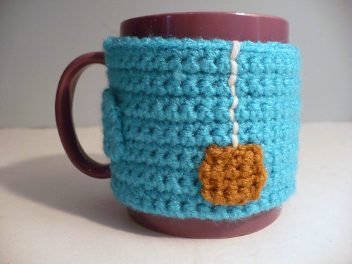 """Cup of Tea"" Crocheted Mug Cozy"
