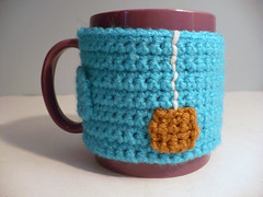 """Cup of Tea"" Crocheted Mug Cozy"