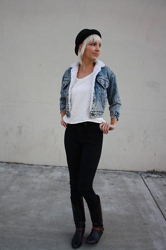 fashion vintage clothing grunge womens jeans jacket levi denim cropped etsy levis sherpa levistrauss jackets 1990s acidwash 90s shrunken castawayvintage