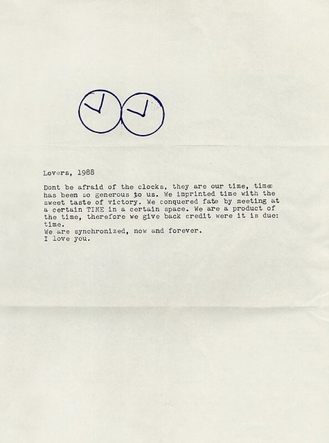 a letter that felix gonzalez-torres addressed to his lover, ross