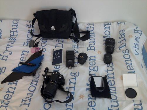 Väska och fotoprylar