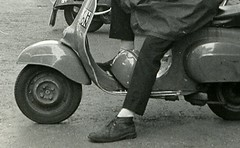 Mod on a scooter in London, 1979 (Paul-M-Wright) Tags: mod coat scooter scooters 1979 mods parka paulwright secretaffair modrevival lyndallhobbs