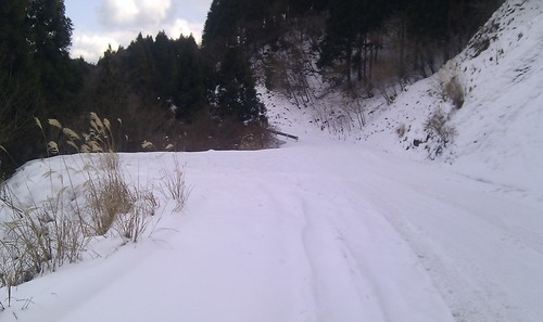青山高原は氷の世界