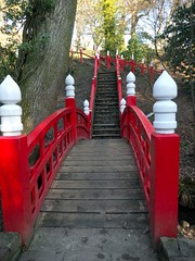 Clyne Gardens Swansea 29th Jan 2011 (4) (Gareth Lovering Photography 2,000,000 views.) Tags: bridge red gardens japanese footbridge olympus panasonic lovering clyne gh2
