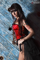 Rakel Da Cua (lex Prez) Tags: blue hot sexy alex beautiful tattoo canon amazing gorgeous da corset slc gogo brunette perez rakel cua