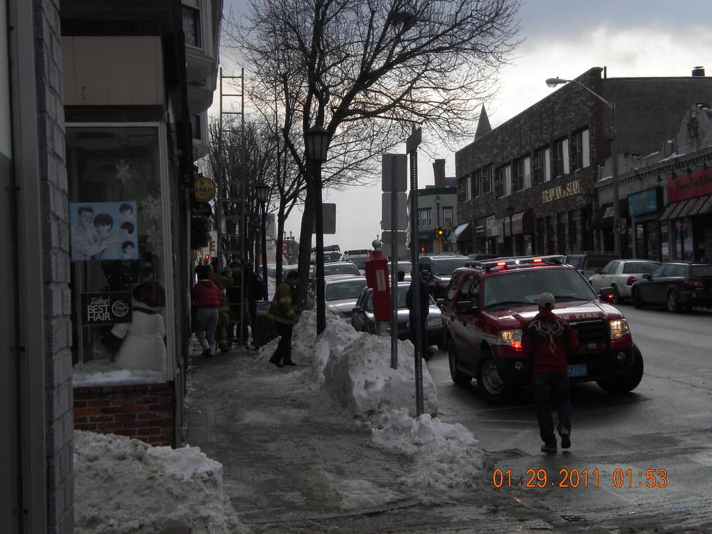 Waltham Fire Department Breaking Ice