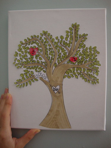 family tree hearts