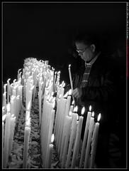 Prayer B/W (peppelr) Tags: street bw white black milano duomo fotography candele preghiera religione pregare portatrait