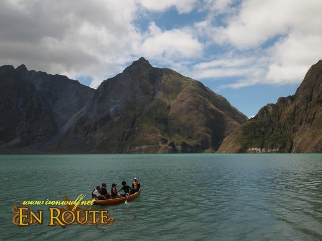 Boating at Mt Pinatubo Crater at P250 per head