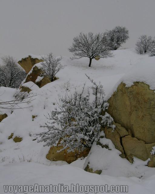 Snow at Cappadocia