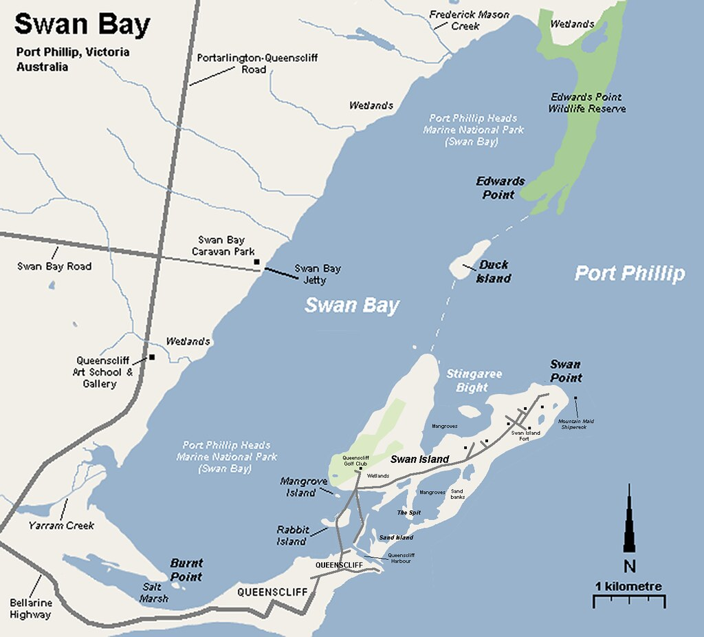 Map of Swan Bay
