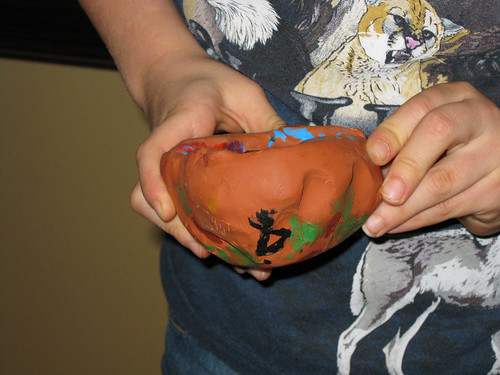 Indian Clay Pot by JD Boy (age 7)