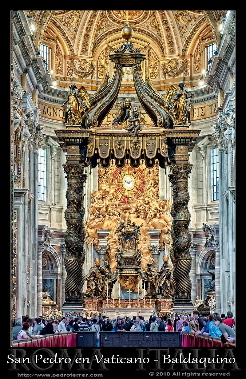 Roma - San Pedro - Baldaquino de Bernini