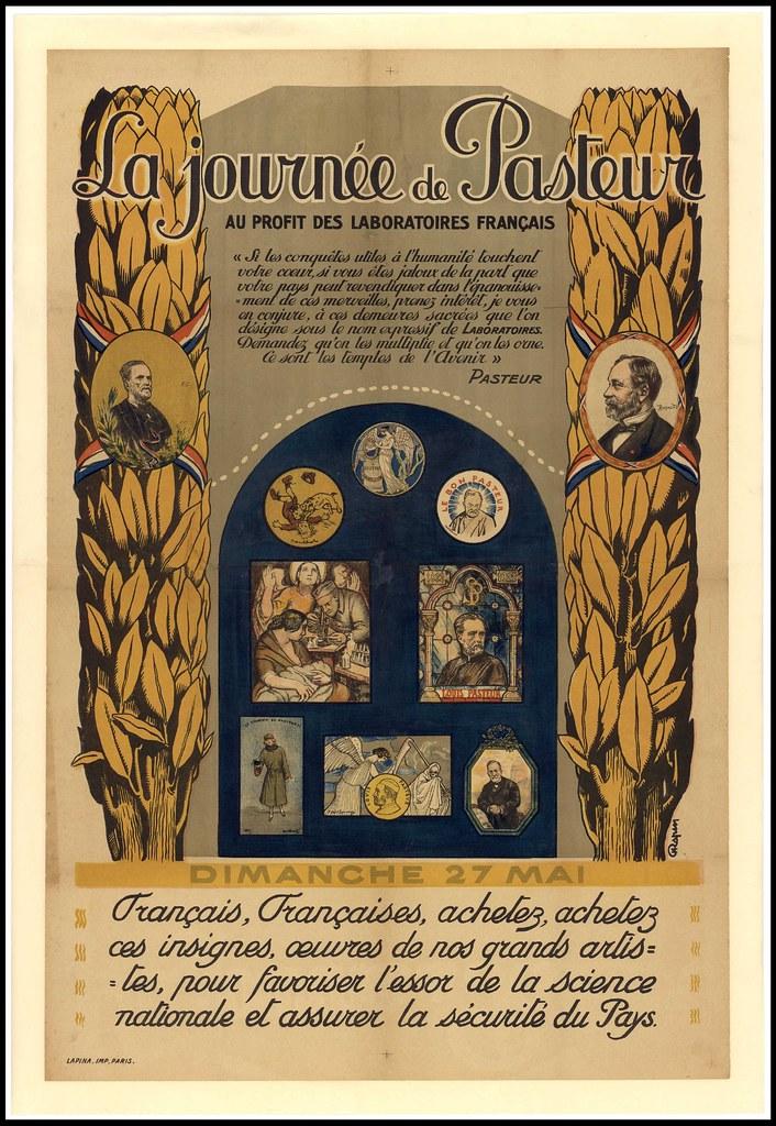 La journée de Pasteur au profit des laboratoires français. action sanitaire laboratoire de recherche vaccination