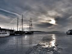 Harbor (HDR) (OlavSto) Tags: winter snow ice oslo harbor high dynamic harbour cracks range hdr photonfreeze