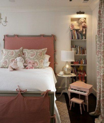 pale pink headboard tracery