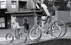 Be Faster (Skies of Bitan ) Tags: blackandwhite bw bike bicycle cycling trix taiwan mf taipei   rodinal manualfocus 100asa 125 nikonfa 100iso      100ei  nikonseriese100mmf28  aristapremium100 18degc