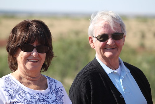 Mom and Dad at Cattle Ranch