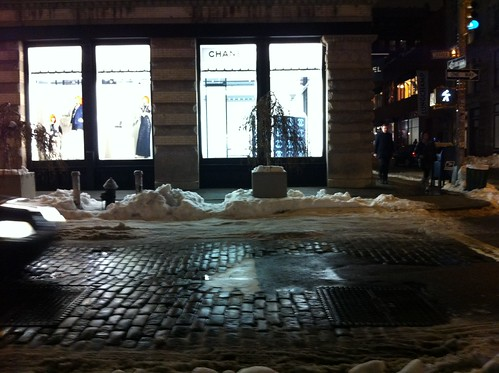 SoHo, Chanel store, winter