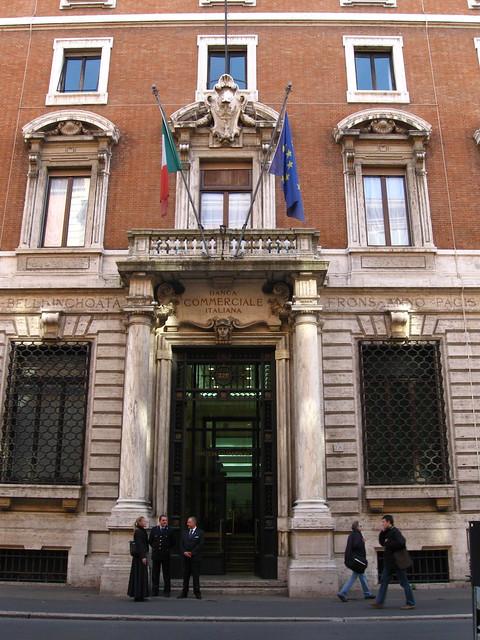 ローマの銀行のフリー写真素材