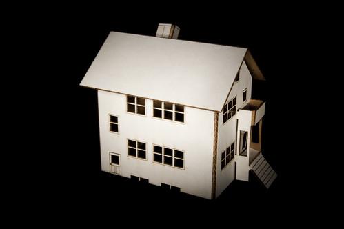 Laser-Cut Cardboard House