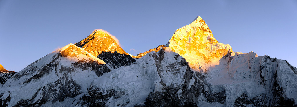 Sunset on Everest from  Kala Patthar