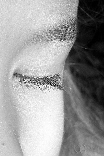 Sweet Lashes B&W