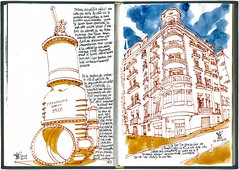 30th SketchCrawl Barcelona #2 (freekhand) Tags: barcelona parallel sketchcrawl poblesec