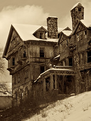 Hotel for Ghosts (SunnyDazzled) Tags: school newyork history abandoned college architecture hall halcyon haunted bennet 1890 ruined