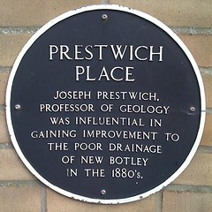 Photo of Joseph Prestwich black plaque