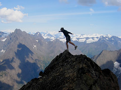 """Balancing on the Brink."" Eagle Peak summit, Chugach Mountains, Alaska (Paxson Woelber) Tags: mountain mountains alaska sketchy landscape dangerous scenery climbing summit balance balancing topoftheworld paxson mountaintop riskybusiness risks risky chugach gettingoutside chugachmountains eaglepeak landscapephotography chugachstatepark balancer balances achieving alaskamountains alaskamountain takingrisks alaskascenery climbingtothetop achievinggoals dangerousclimbing myrmecoleon dangerousmountains attaininggoals woelber paxsonwoelber alaskabackcountry backcountryinalaska eaglepeaksummit makinggoals riskyclimbing"