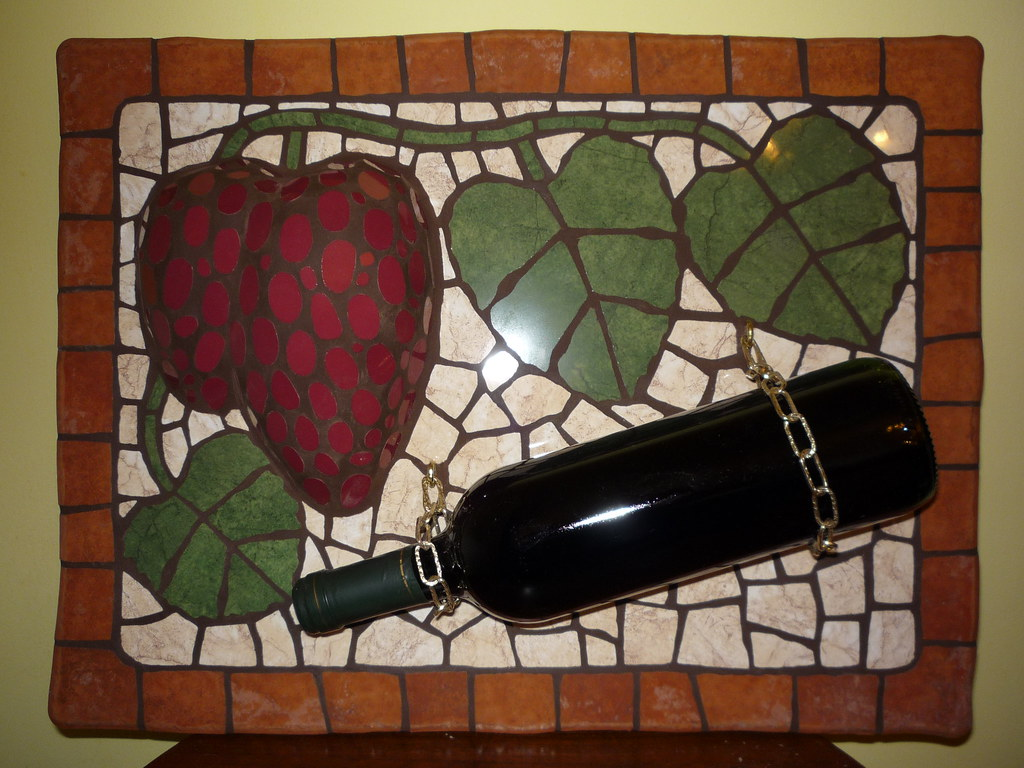 Mosaic ceramics.Wine holder from .By R.Johann.