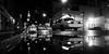 Chinatown (Airicsson) Tags: street new york city nyc summer urban blackandwhite bw usa white ny black reflection rain puddle island lumix us walk manhattan cab taxi panasonic 2010 streetshot blackwhitephotos lx3