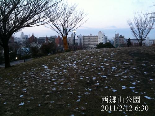 早朝ウォーキング(2011/2/12): 西郷山公園