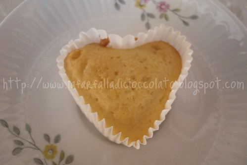 Muffin con gocce di cioccolato a cuoricino