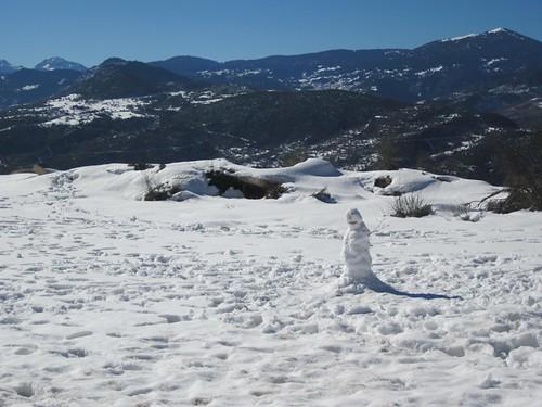 A Greek snowman!