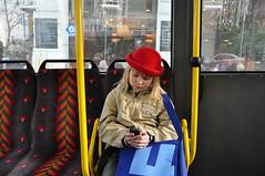 Paula Viini bussis (anuwintschalek) Tags: vienna wien winter red portrait bus rot hat austria hut paula february buss talv 2011 lapsed viin 18200vr punane kbar nikond90 linie2a