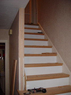 Stair Fitter Process (NuSTAIR Retread Stairs) Tags: Stairtread Newstair  Staircaps Stairrefacing Nustair Stairfitter