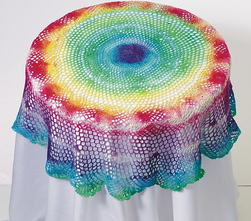 Tie dye tablecloth