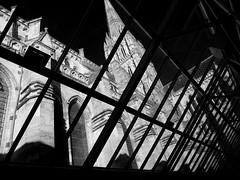 Skylight (albireo 2006) Tags: uk wallpaper blackandwhite bw wow cathedral unitedkingdom background skylight salisbury wiltshire blackandwhitephotos blackwhitephotos kartpostal