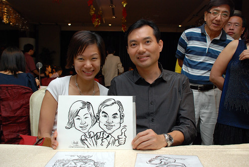 caricature live sketching for OCBC Securities - 4
